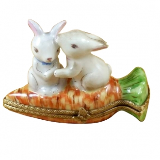 Rabbits on carrot