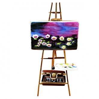 Easel monet - water lilies