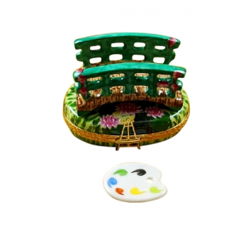 MONET BRIDGE WITH WATER LILIES WITH REMOVABLE PALLETE