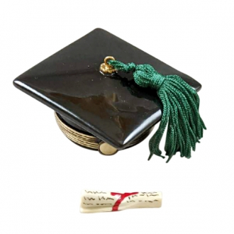 BLACK GRADUATION CAP WITH DIPLOMA