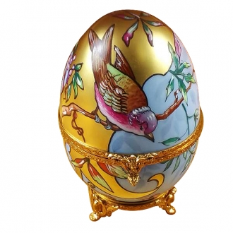 Studio collection - art nouveau egg w / bird