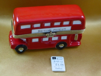 LONDON DOUBLE DECKER BUS W/REMOVABLE TICKET