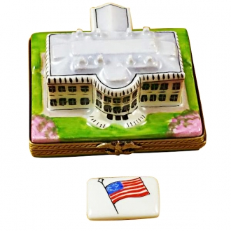 White house with removable flag