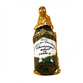 CHAMPAGNE IN BRASS GRAPE LEAVES HOLDER