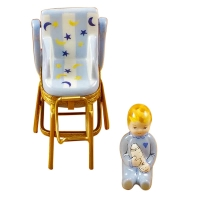 Baby high chair blue