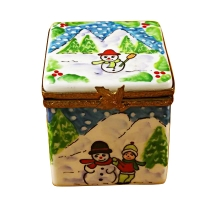 CHRISTMAS CUBE W/SNOWMAN ON SPRING