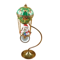 Santa in ballon with brass stand
