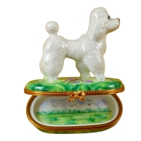 WHITE POODLE GREEN BASE