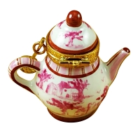 PINK TOILE TEAPOT