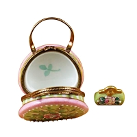 Round purse w/coin wallet victoria..