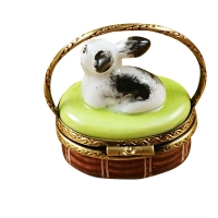Basket w/mini rabbit