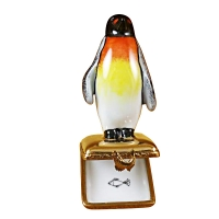 PENQUIN ON GOLD BOX