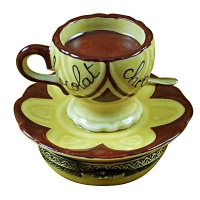 Hot chocolate cup & saucer