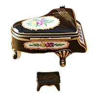 Grand piano floral with porcelain bench