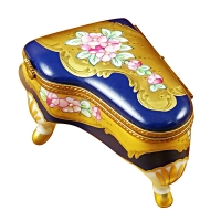 Grand piano roses blue/gold