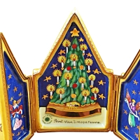 Triptych christmas tree