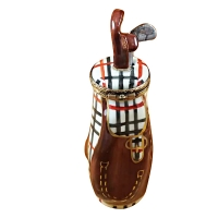 PLAID GOLF BAG W/REMOVABLE CLUB
