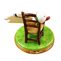 Tennis chair w/racquet/ball/shirt