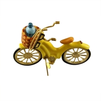 YELLOW BEACH CRUISER WITH BRASS SUNGLASSES