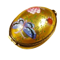 Egg decor butterfly on gold base..