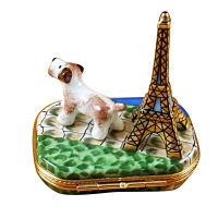 Eiffel tower w/jack russell terrier