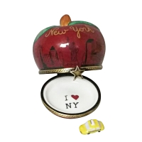 I Love New York  Apple with removable Taxi