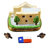THE ALAMO W/CANNONS AND TEXAS FLAG