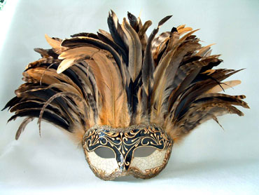 Incas Crackle Black/Gold  Stucco/Tan Tiger Feathers