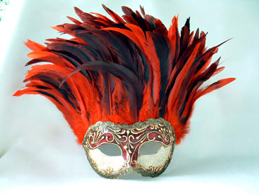 Incas Crackle Red Stucco/Red Tiger Feathers