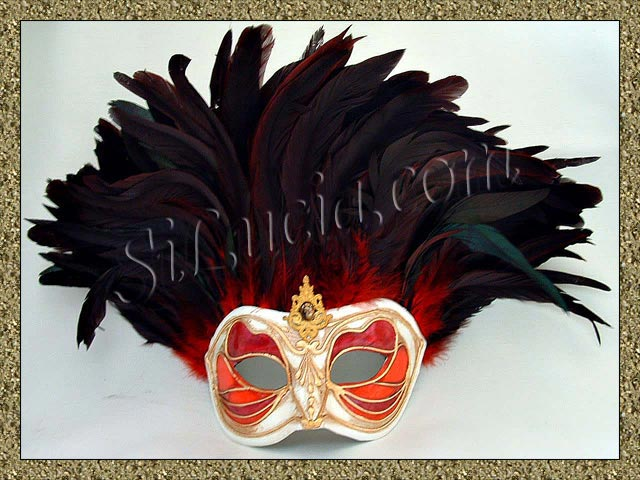 Incas Monica Red/White Red Feathers