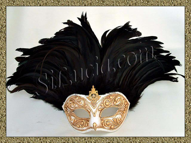 Incas Monica Gold/White Black Feathers