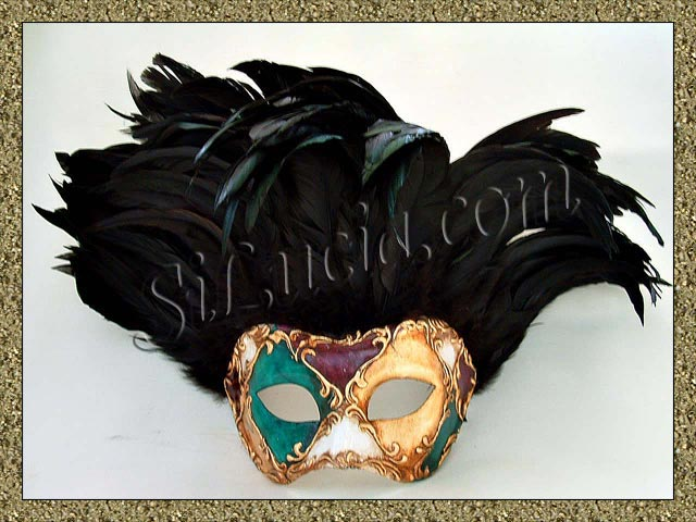 Incas Mardi Gras Black Feathers