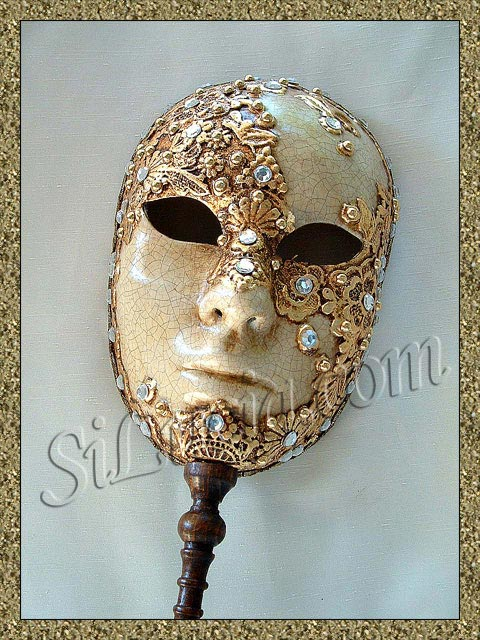 Full Face Gold Macrame Stick