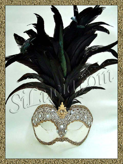 Galletto 1/2 Macrame Black Feathers