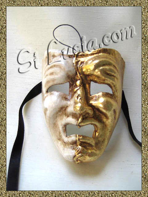 Miniature Commedia mignon gold/white cry