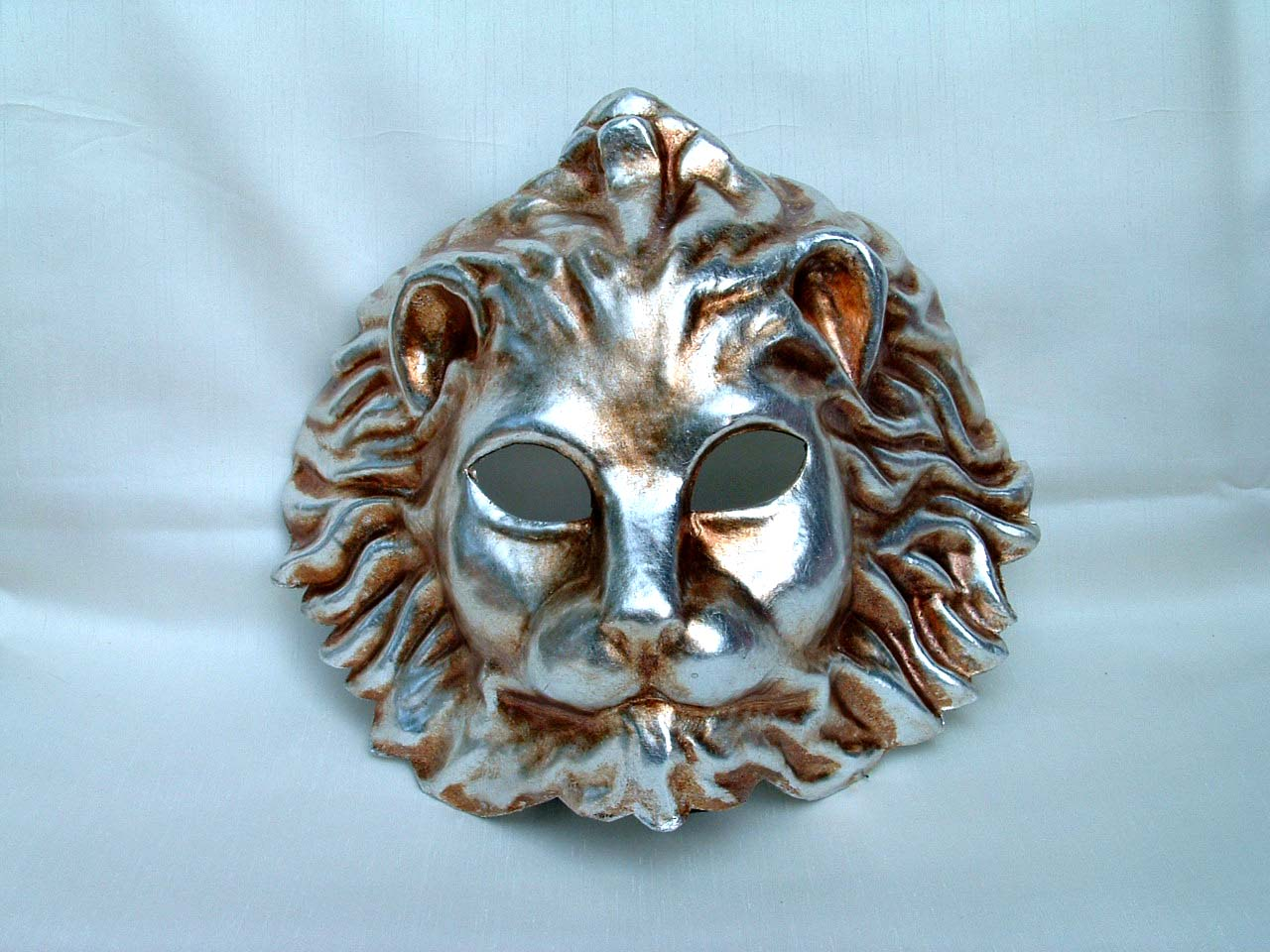 Lion Silver Decor Venetian Mask
