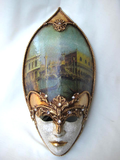 Decoupage Large Narrow Venetian Masks 1001 Venetian Masks