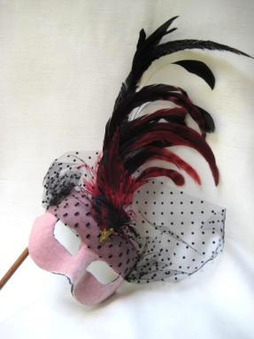 Elfe With Plume Stick Pink