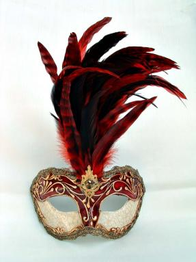 Galletto Crackle Red Stucco/Red Tiger Feathers
