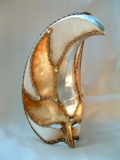 Atlantide White Deco Venetian Mask