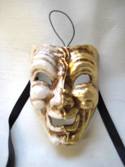 Miniature Commedia mignon gold/white smile