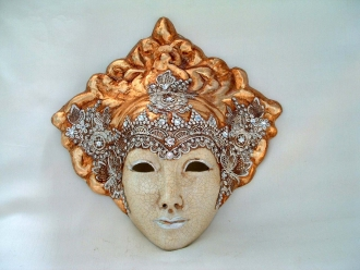 Liberty Crackle Macrame Venetian Mask