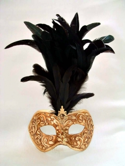 Galletto Stucco Gold/Black Feathers