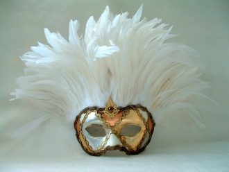 Incas Metallic White Feathers
