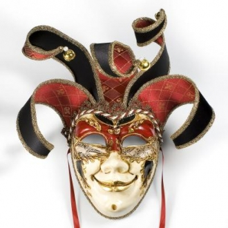 Venetian Joker Lame Mask