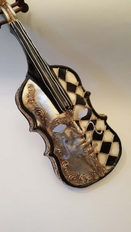 Scacci Violin 1/2 Silver 1/2 Black/White