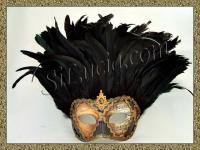 Incas Music Brown/Gold Black Feathers