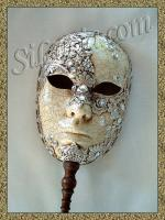 Full Face Silver Macramé Stick
