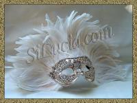 America Silver Macrame White Feathers