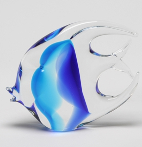 Blue Murano Moonfish